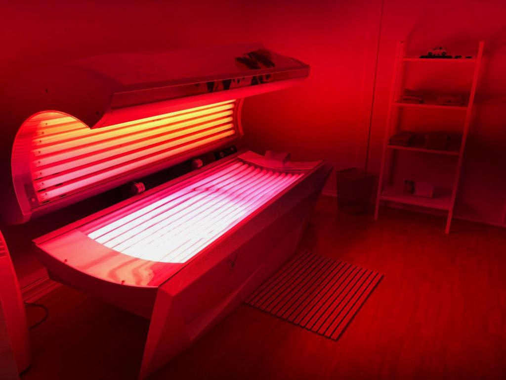 Beautyangel, solarie, rør, rum, behandling, lyserød
