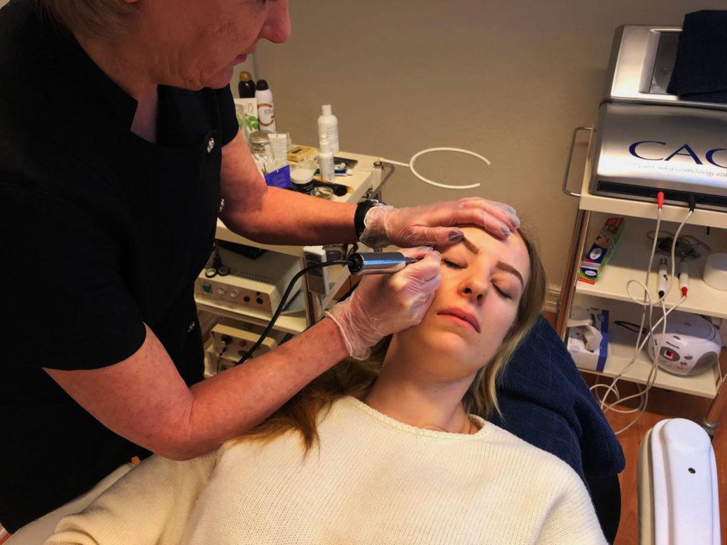 Permanent, makeup, pigmentering, bryn, eyeliner, fyldighed